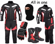 (Red) 6 Packs Design Suit - Jacket + Trouser + Gloves + Boots (Long)